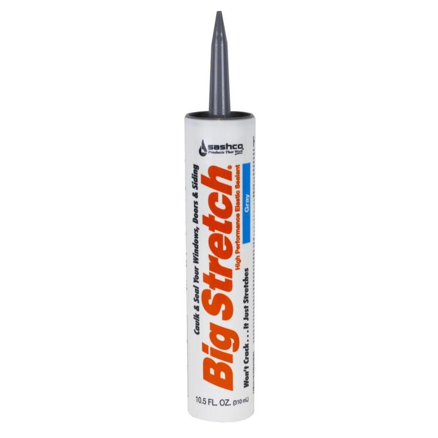 Big Stretch 10.5-fl oz Gray Unsanded Paintable Latex Window and Door Caulk
