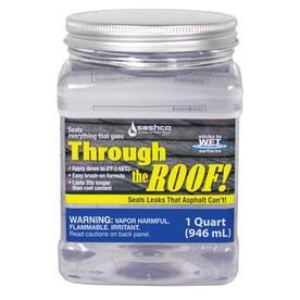 Through the Roof! 32-fl oz Clear Paintable Solvent Caulk