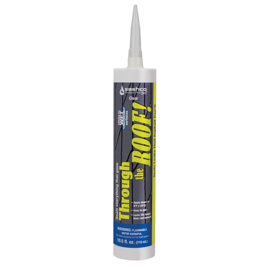 Through the Roof! 12-Pack 10.5-fl oz Clear Paintable Solvent Caulk