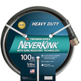 Teknor Apex Heavy Duty 5 8 In X 75 Ft Heavy Duty Kink Free Vinyl Gray Coiled Hose In The Garden Hoses Department At Lowes Com