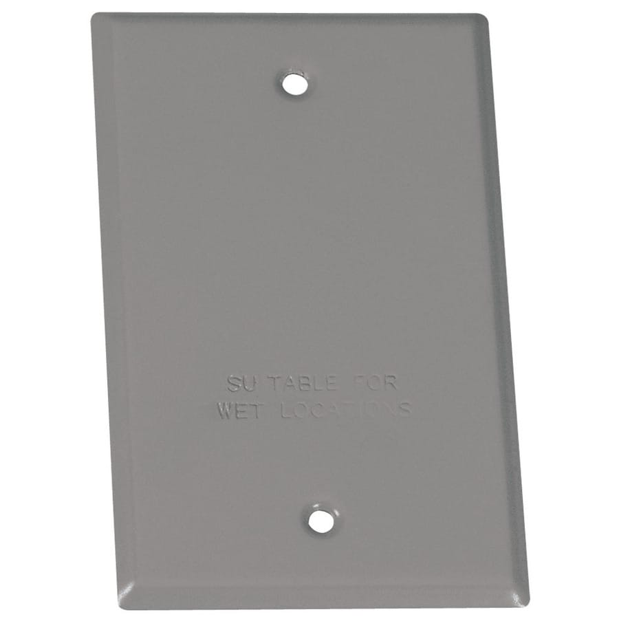 1-Gang Rectangle Metal Weatherproof Electrical Box Cover