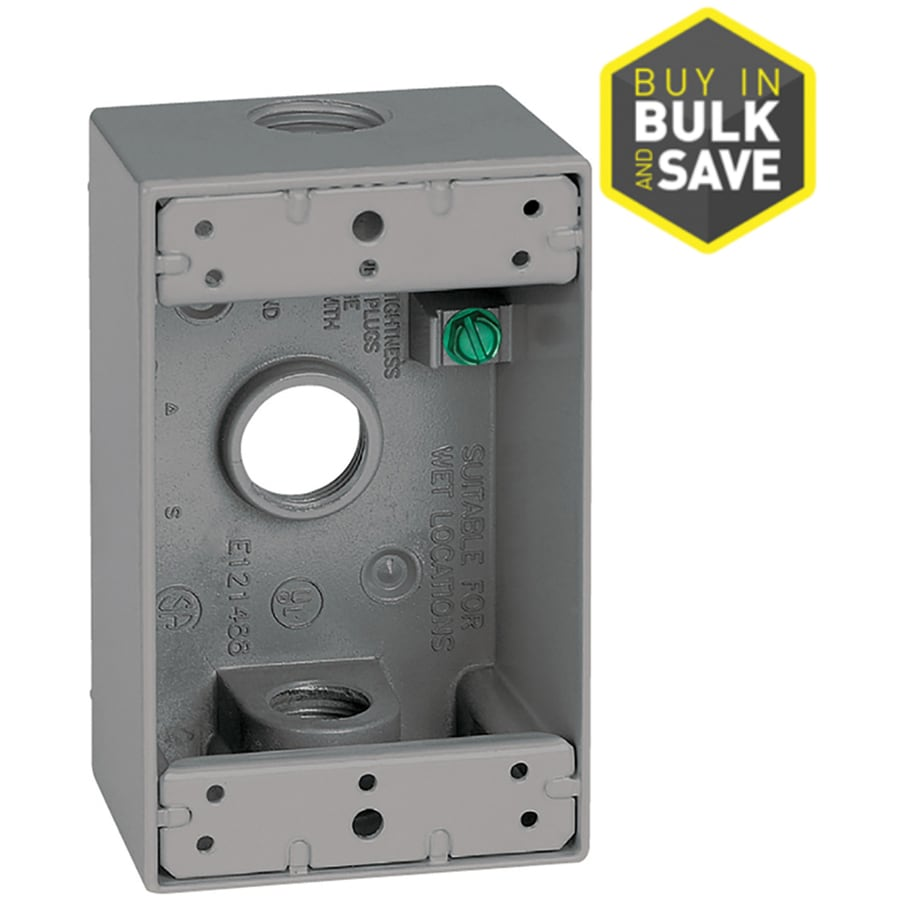 Sigma Electric 1-Gang Gray Metal New Interior/Exterior Electrical Box