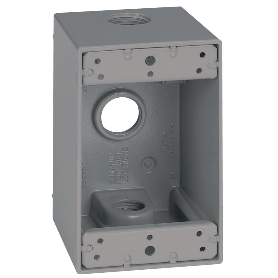 Weatherproof Outdoor Electrical Box: Sigma Electric 1-Gang Weatherproof Box 1-Gang Gray Metal