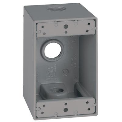 Sigma Electric 1-Gang Weatherproof Box 1-Gang Gray Metal