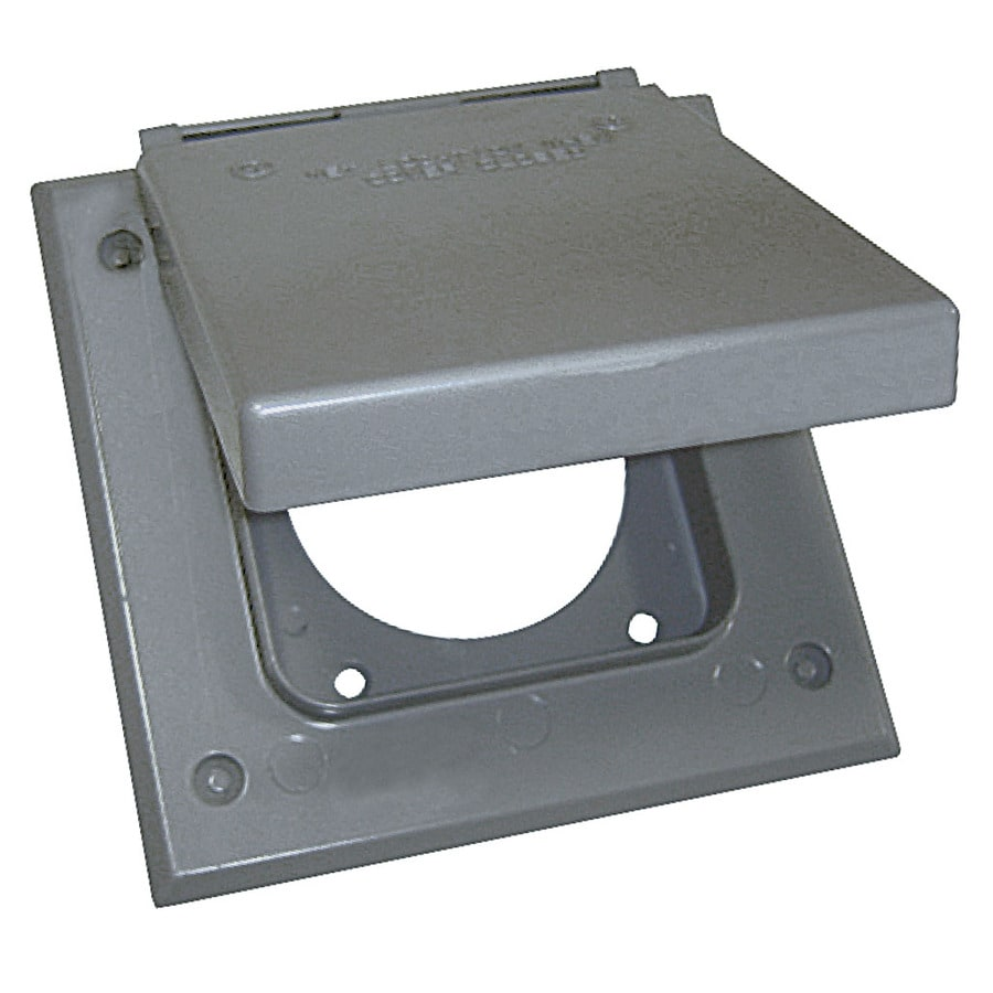 Shop Gampak 2 Gang Square Metal Weatherproof Electrical Box Cover At