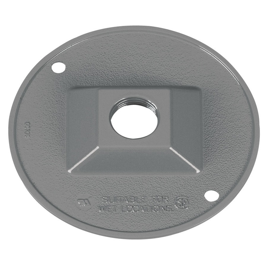 Gampak Round Metal Weatherproof Electrical Box Cover