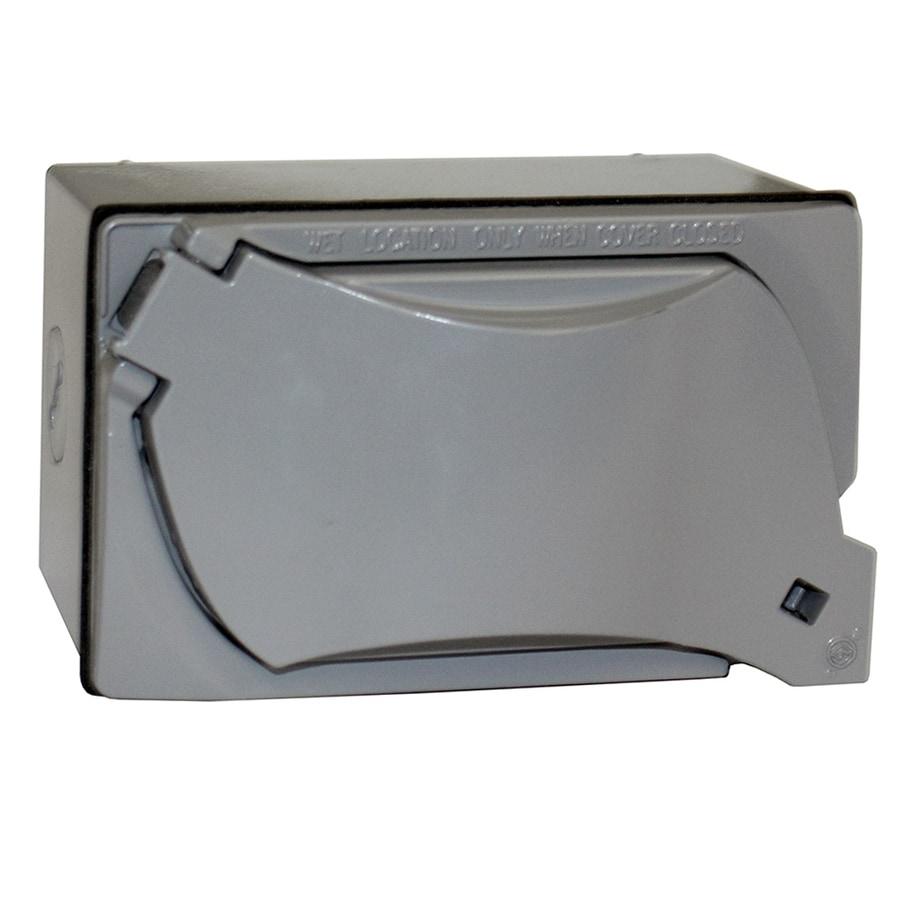 Shop Sigma Electric Weatherproof Receptacle Kit 1-Gang Gray Metal ...