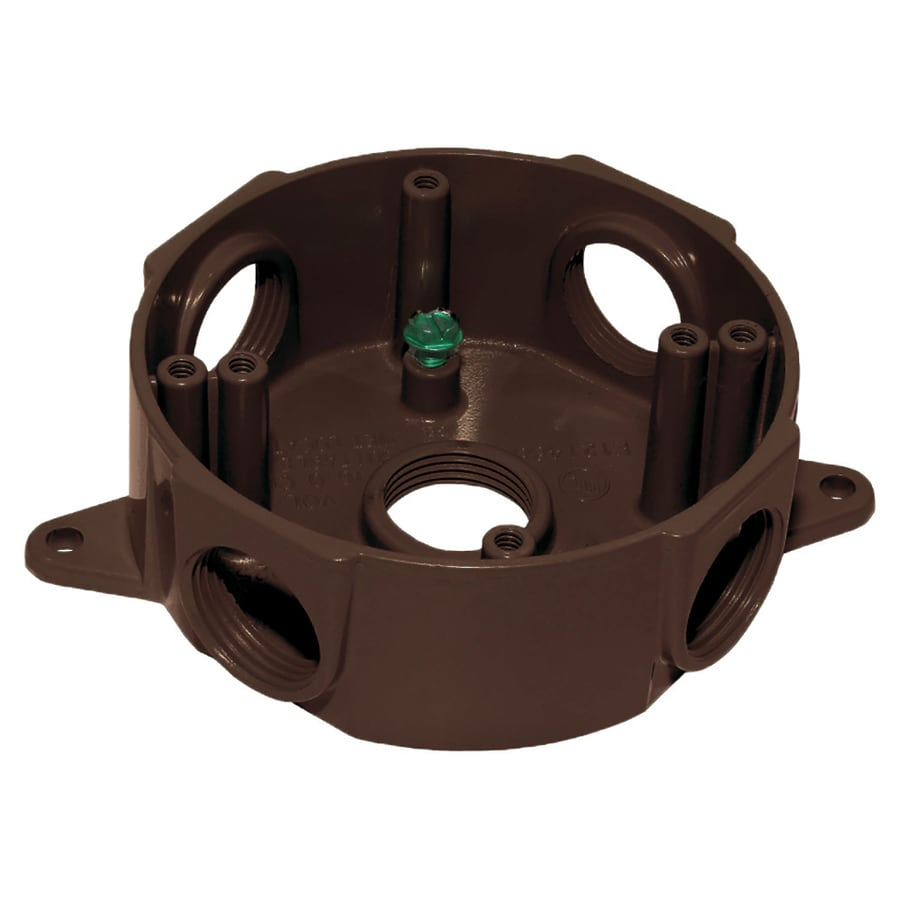 Gampak Bronze Metal Weatherproof Exterior/Interior New Work Standard Round Interior/Exterior Electrical Box