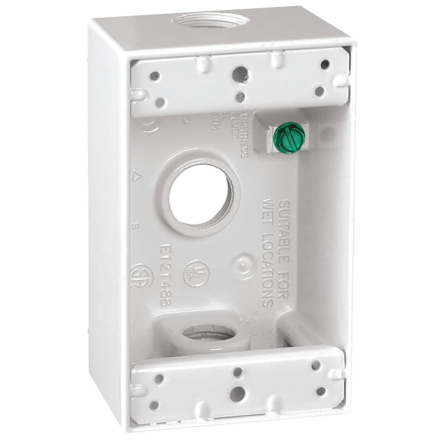 Sigma Electric 18-cu in 1-Gang Metal Square Weather Resistant Wall Electrical Box