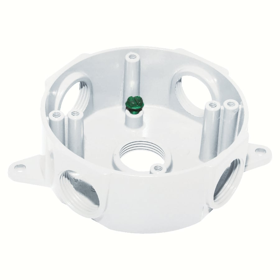 Gampak 17-cu in Metal Round Weather Resistant Wall Electrical Box