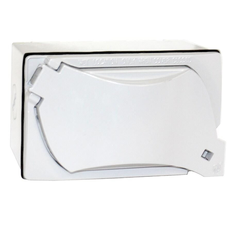 Shop Sigma Electric Weatherproof Receptacle Kit 1-Gang White Metal ...