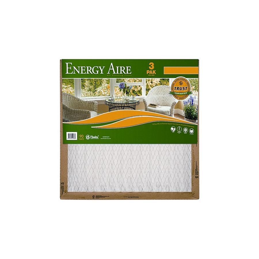 Energy Aire 3-Pack 18-in x 18-in x 1-in Pleated Air Filters