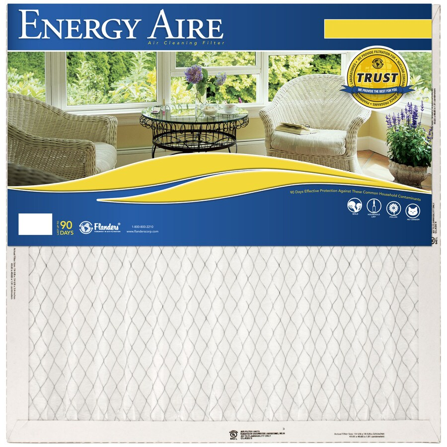 Energy Aire 19-1/2-in x 35-1/2-in x 1-in Pleated Air Filter
