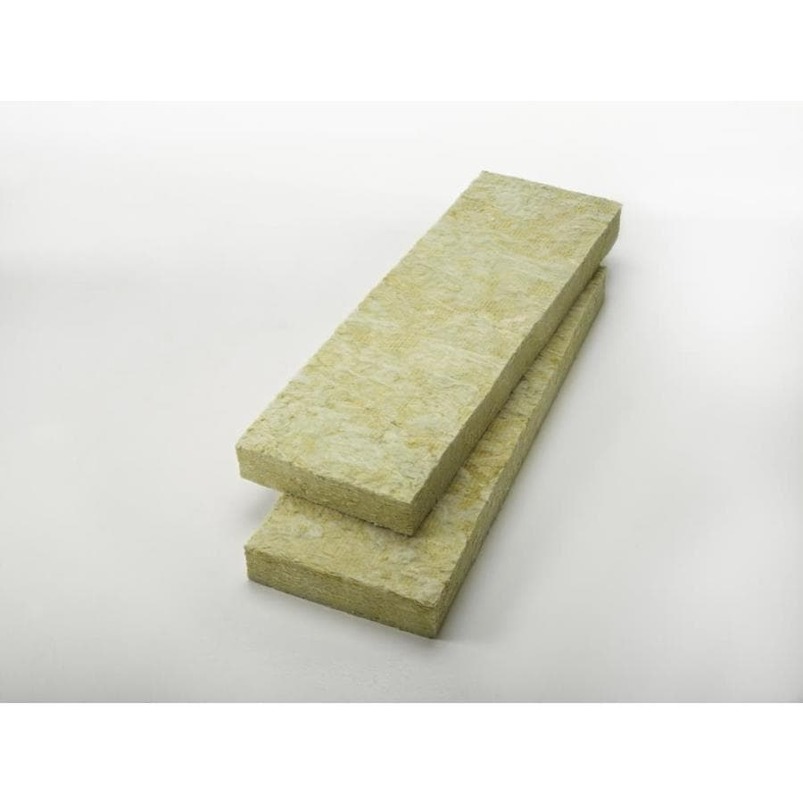 Shop johns manville 49 7 sq ft unfaced mineral wool batt for Roxul mineral wool r value