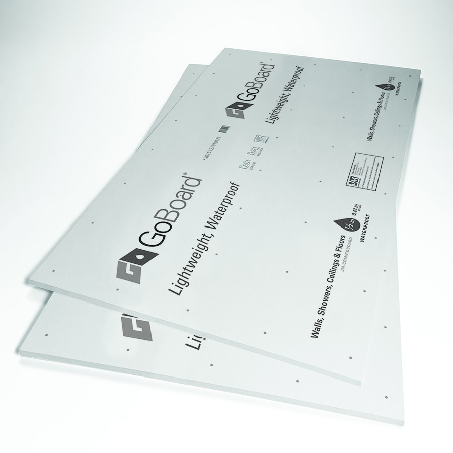 Johns Manville 0.47-in x 36-in x 60-in GOBOARD Polyisocyanurate Backer Board