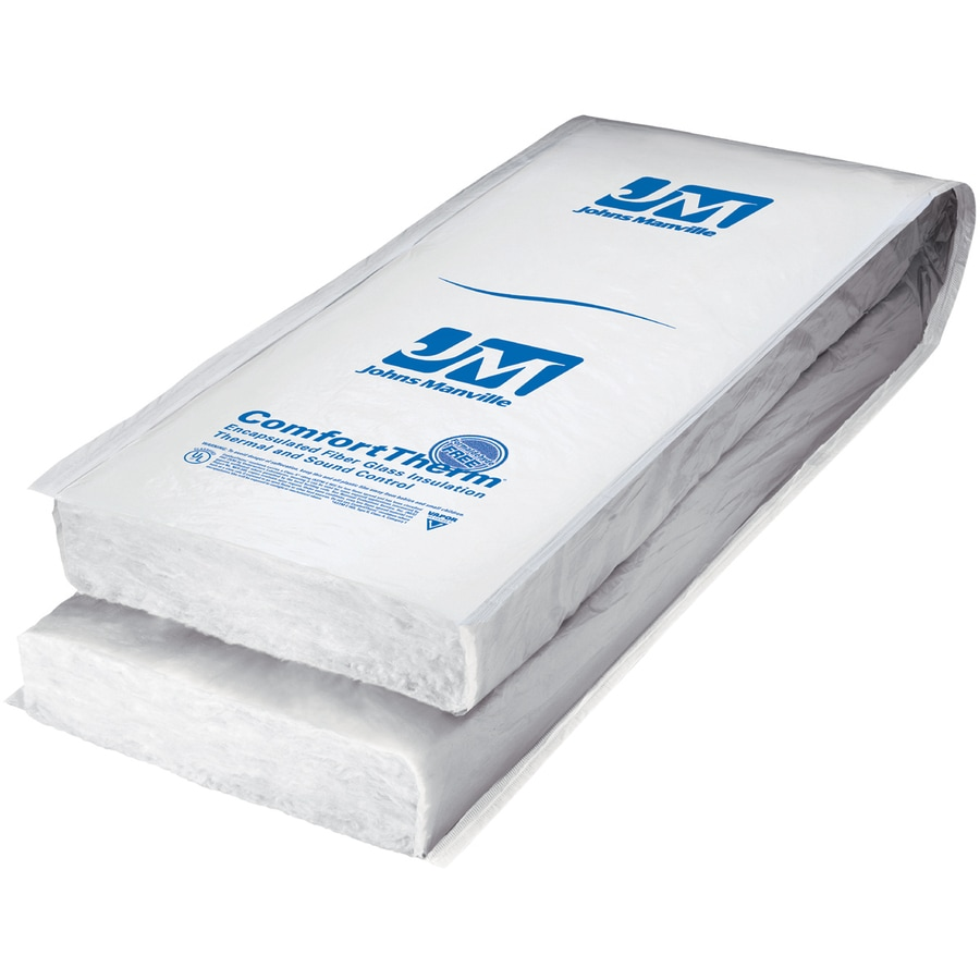 Johns Manville ComfortTherm R11 155-sq ft Faced Fiberglass Batt Insulation with Sound Barrier (15-in W x 93-in L)