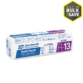 Shop batt insulation at for Fiberglass batt insulation r value