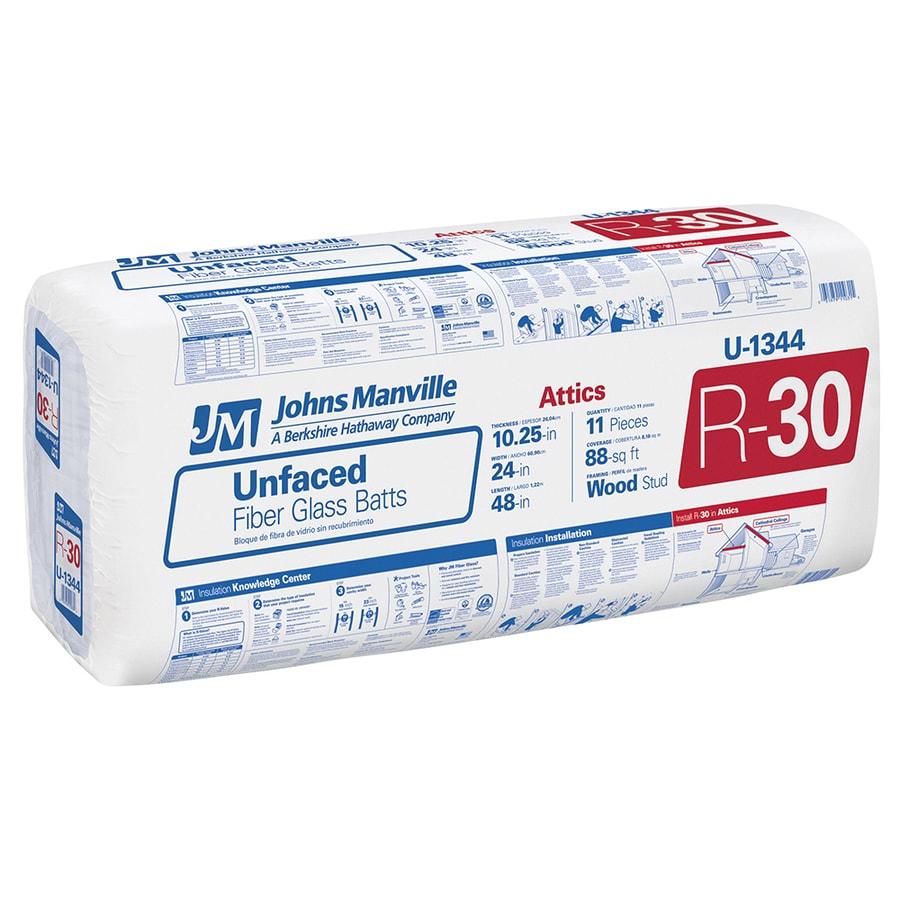 Batt Insulation Product : Shop johns manville r sq ft unfaced fiberglass batt