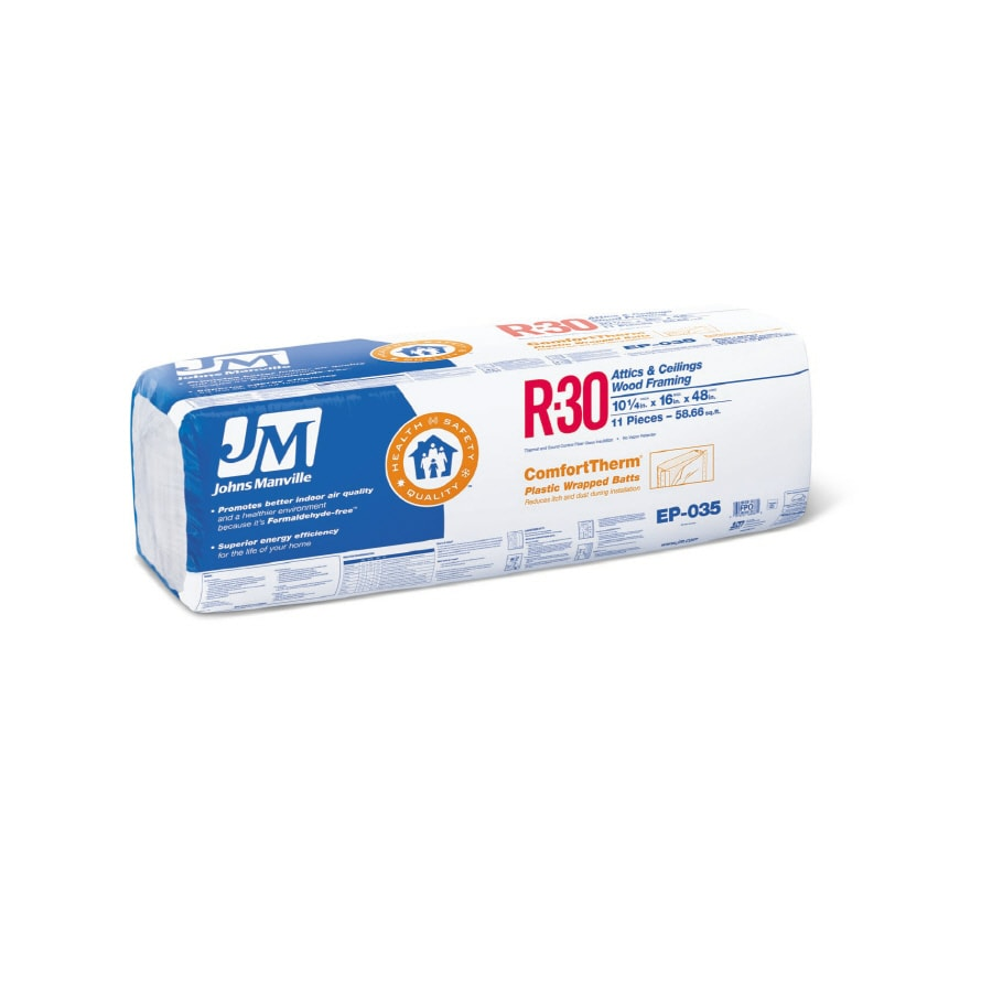 Shop johns manville comforttherm r30 ft faced for Sound fiberglass insulation