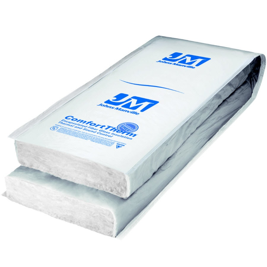 johns manville r30 88sq ft faced fiberglass batt insulation with sound barrier