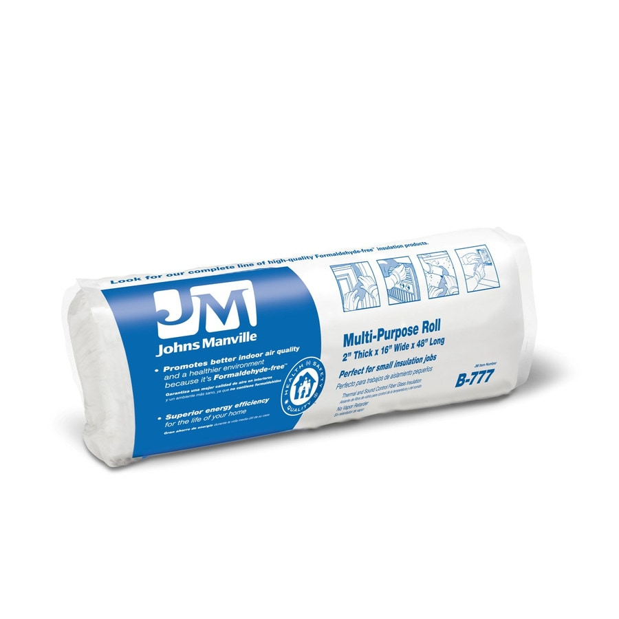 Shop johns manville 5 3 sq ft unfaced fiberglass roll for Sound fiberglass insulation