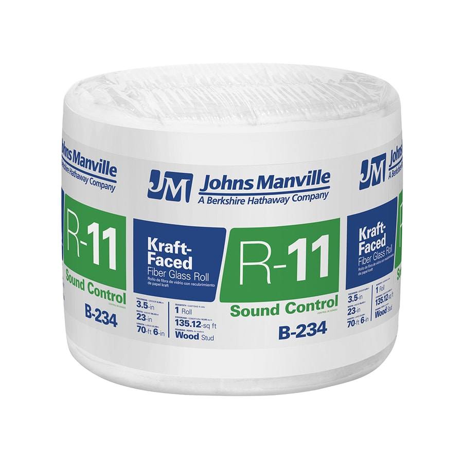 Shop johns manville r11 ft single faced for Sound fiberglass insulation