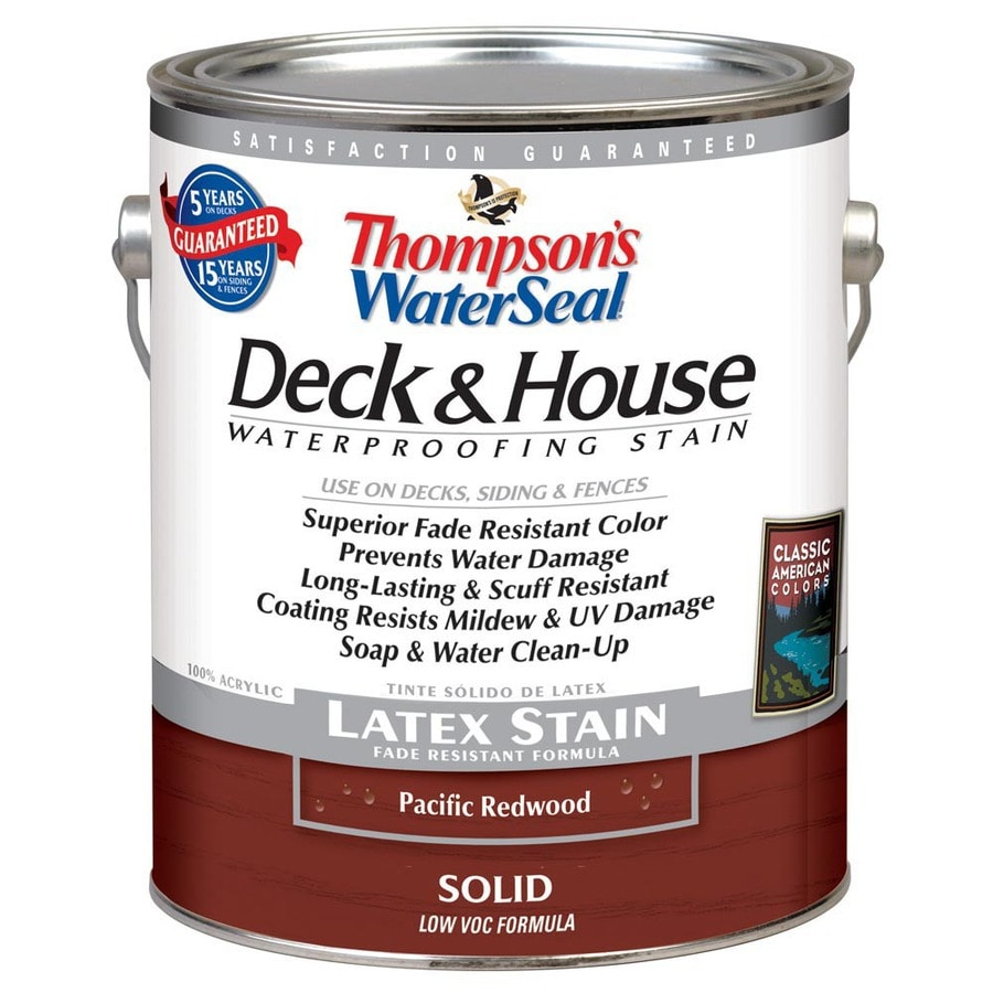 Thompson's WaterSeal 1-Gallon Pacific Redwood Solid Exterior Stain