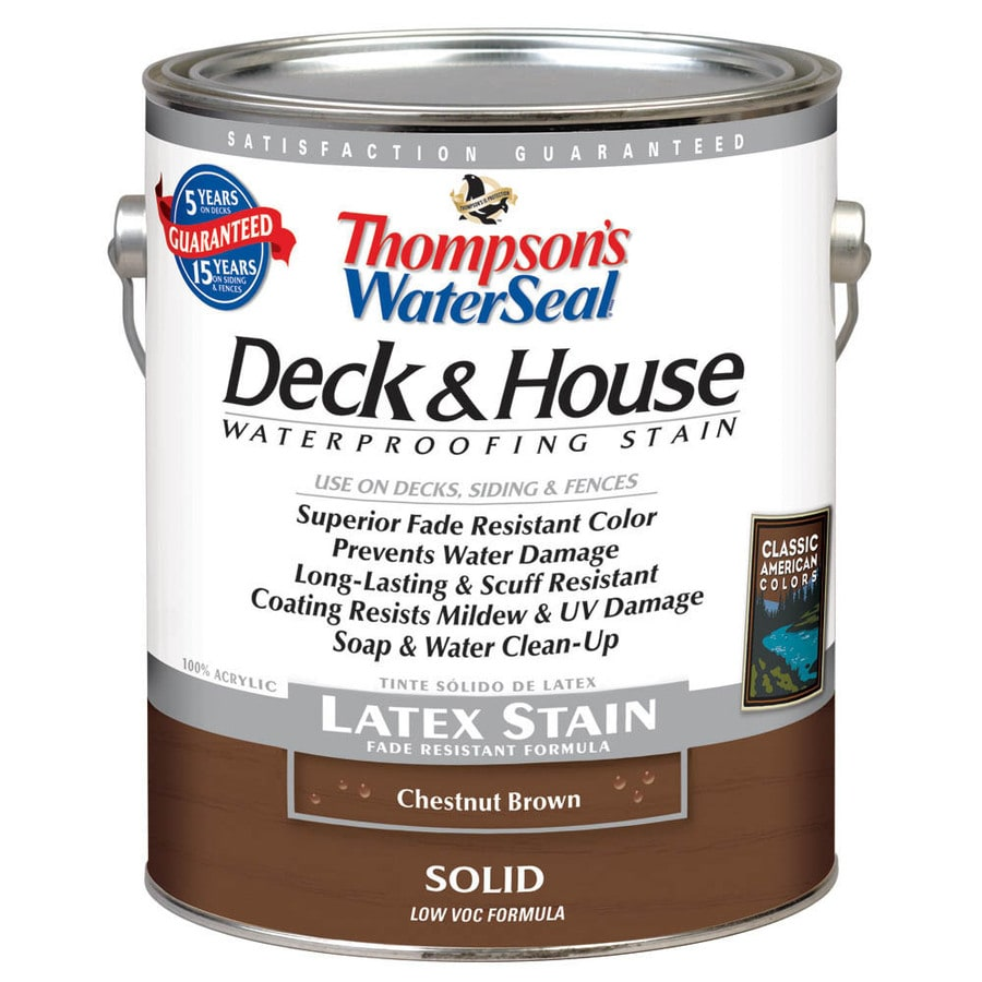 Shop Thompson 39 S Waterseal 1 Gallon Chestnut Brown Solid