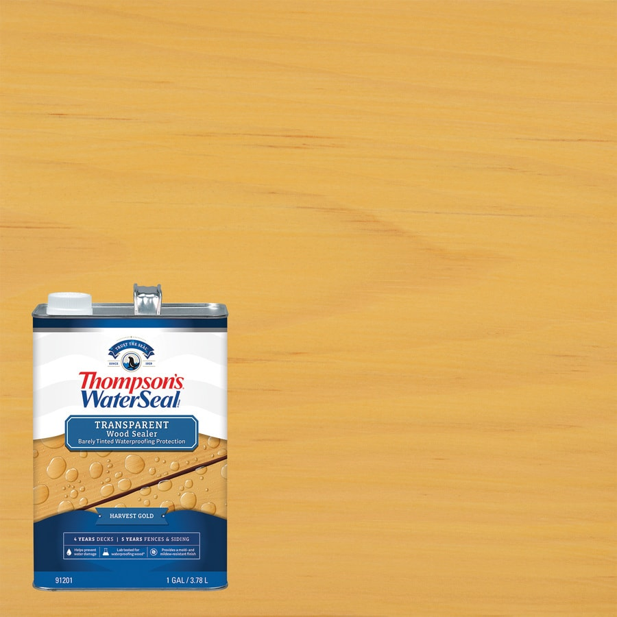 Thompson's WaterSeal Honey Gold Tone Transparent Exterior Stain (Actual Net Contents: 128-fl oz)