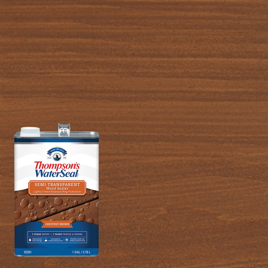Thompson's WaterSeal Pre-Tinted Autumn Brown Semi-Transparent Exterior Stain (Actual Net Contents: 128-fl oz)