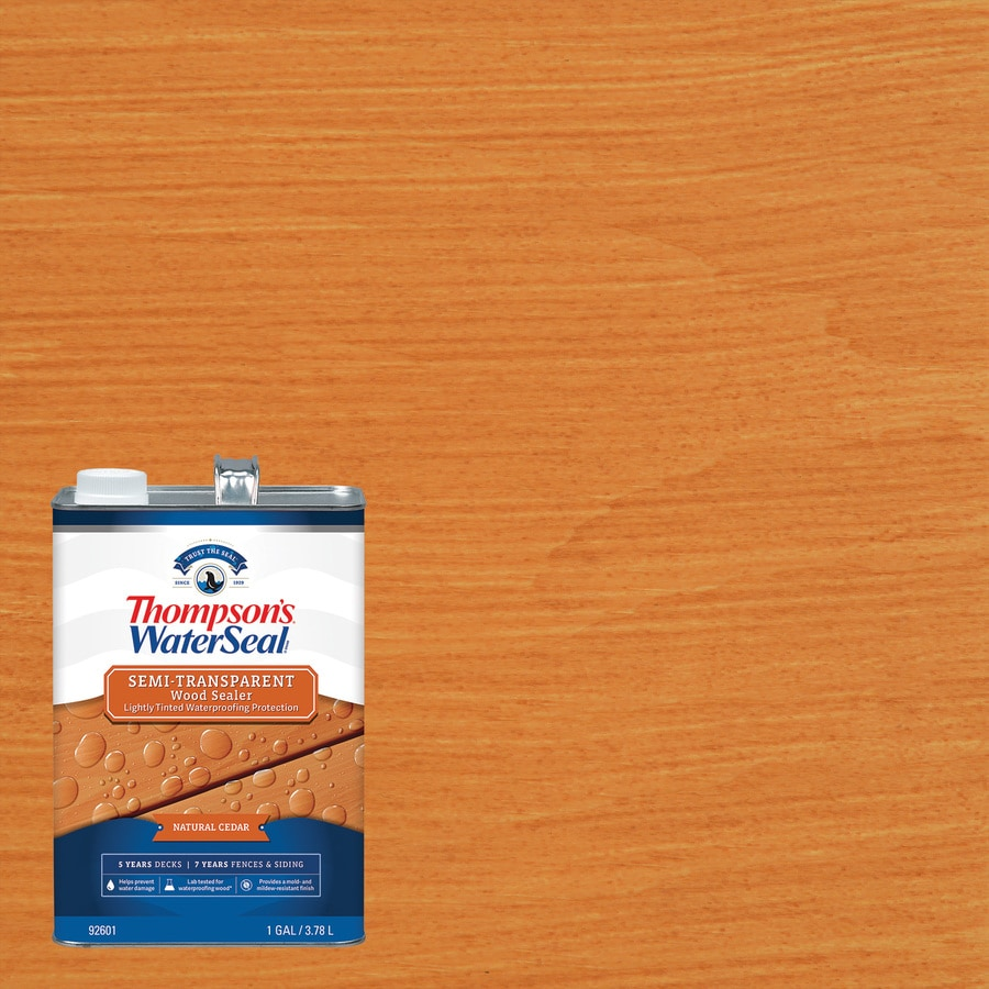 Thompson's WaterSeal Pre-Tinted Natural Cedar Semi-Transparent Exterior Stain (Actual Net Contents: 128-fl oz)