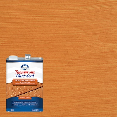 Thompson's WaterSeal Signature Series Pre-Tinted Natural Cedar Semi-Transparent Exterior Stain and Sealer (Gallon)