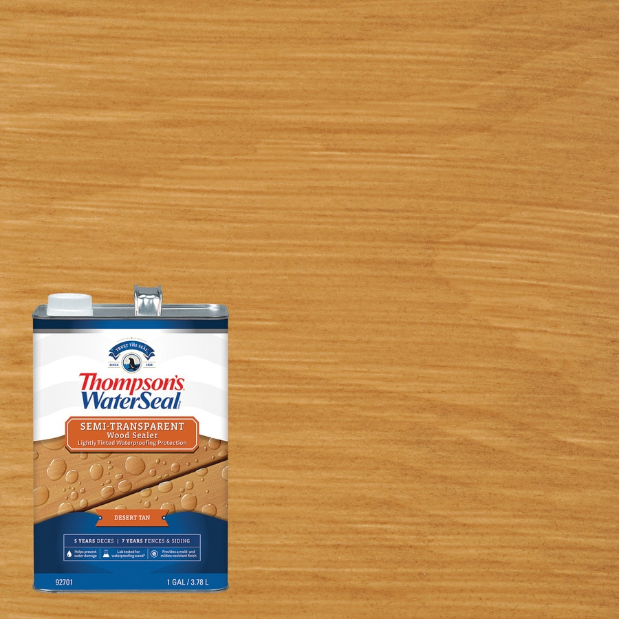 Thompson's WaterSeal Pre-Tinted Timber Brown Semi-Transparent Exterior Stain (Actual Net Contents: 128-fl oz)