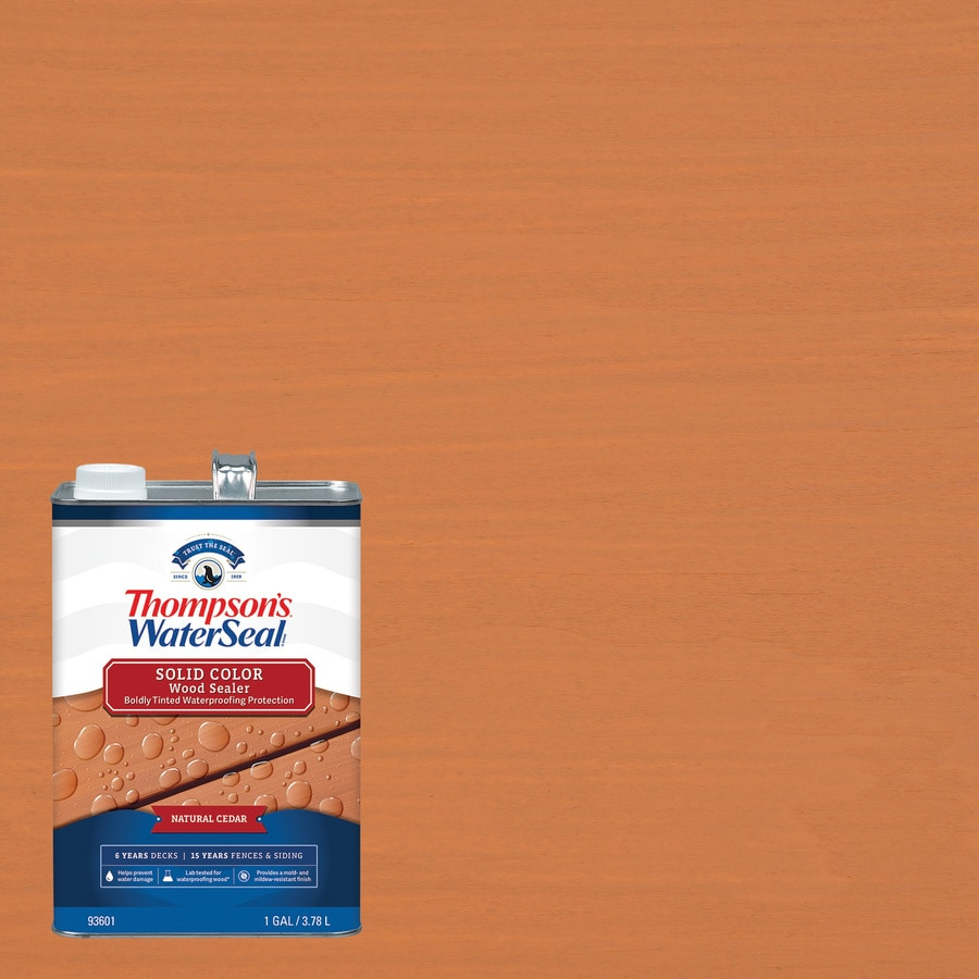 Thompson's WaterSeal Pre-Tinted Natural Cedar Solid Exterior Stain (Actual Net Contents: 128-fl oz)