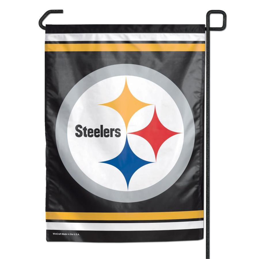 WinCraft Sports 1-ft W x 1.5-ft H Pittsburgh Steelers Garden Flag