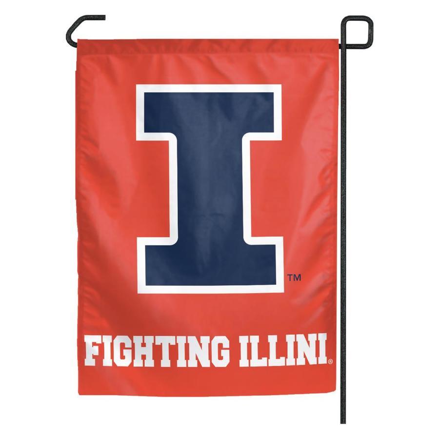 WinCraft Sports 1.25-ft W x 2.75-ft H University of Illinois Flag