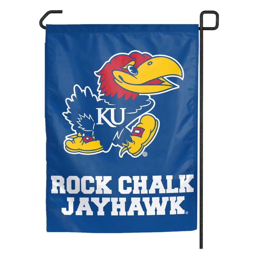 WinCraft Sports 1.25-ft W x 2.75-ft H University of Kansas Flag