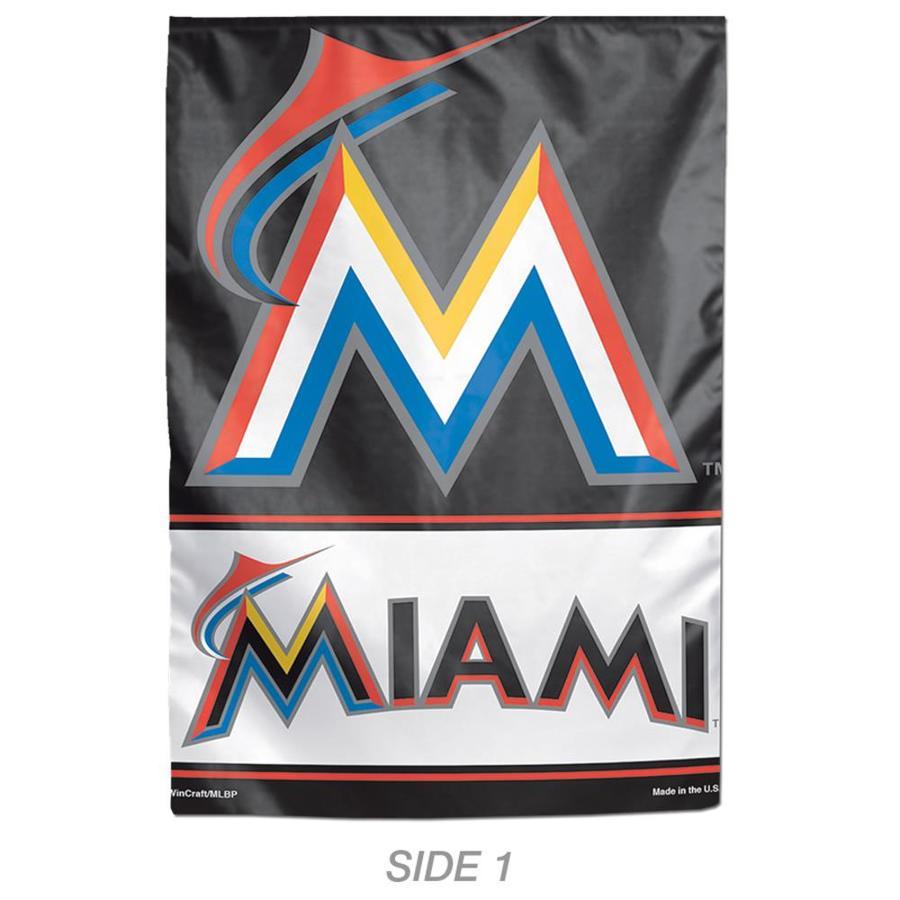 WinCraft Sports 1-ft W x 1.5-ft H Sports Miami Marlins Garden Flag