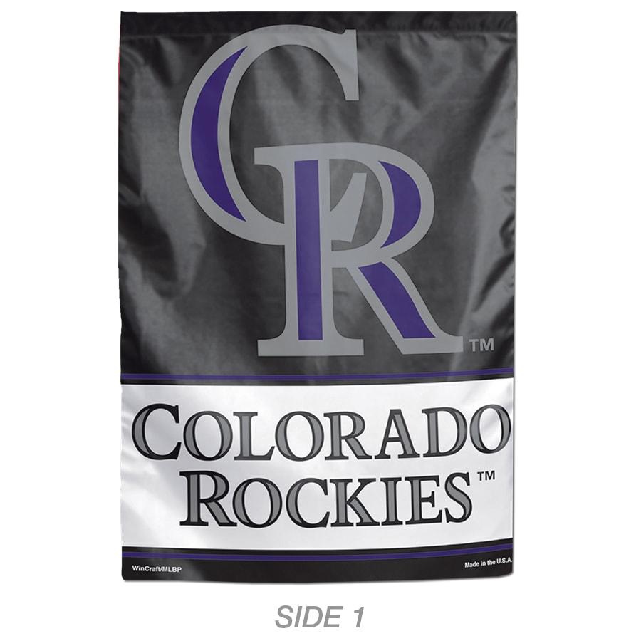 WinCraft Sports 1-ft W x 1.5-ft H Sports Colorado Rockies Garden Flag