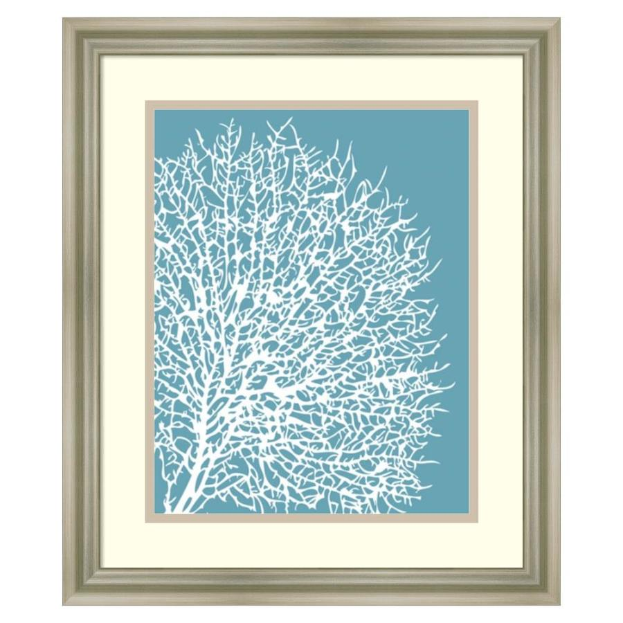 Amanti art 17 in w x 20 in h framed print aqua coral ii wall art at
