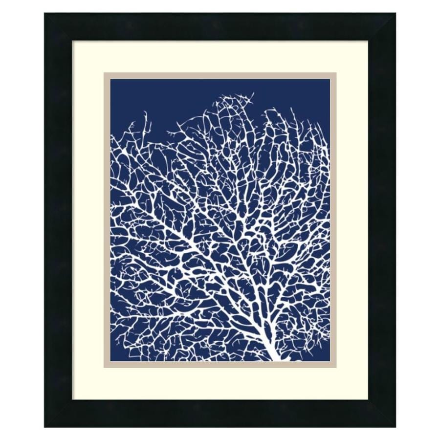 Amanti art 17 25 in w x 20 25 in h framed print navy coral i wall