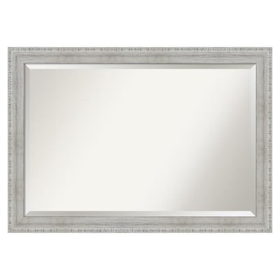 Amanti Art Rustic White Wash Frame Collection 40 38 In