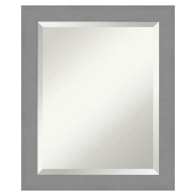 Amanti Art Brushed Nickel Frame, Brushed Nickel Framed Vanity Mirror