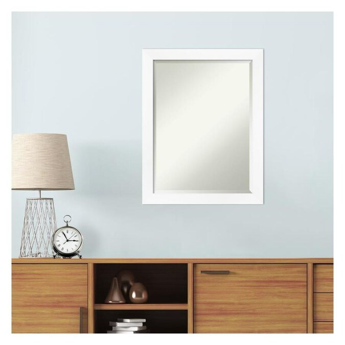 Amanti Art Cabinet White Frame Collection 21 25 In Matte