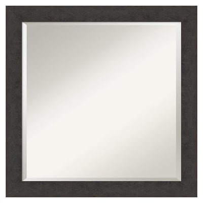 Amanti Art Rustic Plank Espresso Frame Collection 23 25 In
