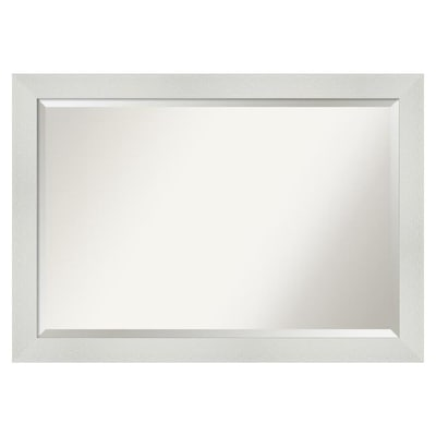 Mosaic White Frame Collection Bathroom Mirrors At Lowes Com