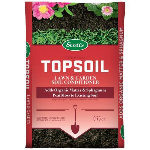 Scotts Premium Topsoil 0 75 Cu Ft Top Soil In The Soil Department At Lowes Com