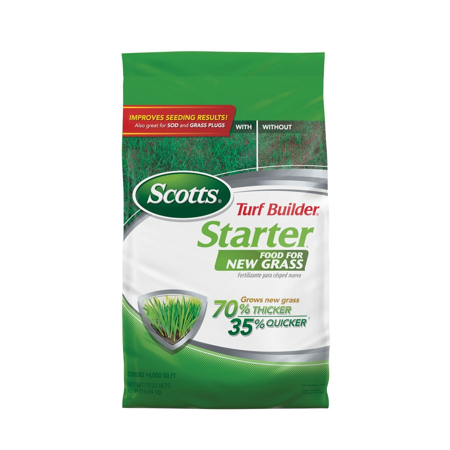 Scotts Turf Builder Starter Food for New Grass 42 Pound(S) Lawn Starter (24 Percentage- 25 Percentage- 4 Percentage)