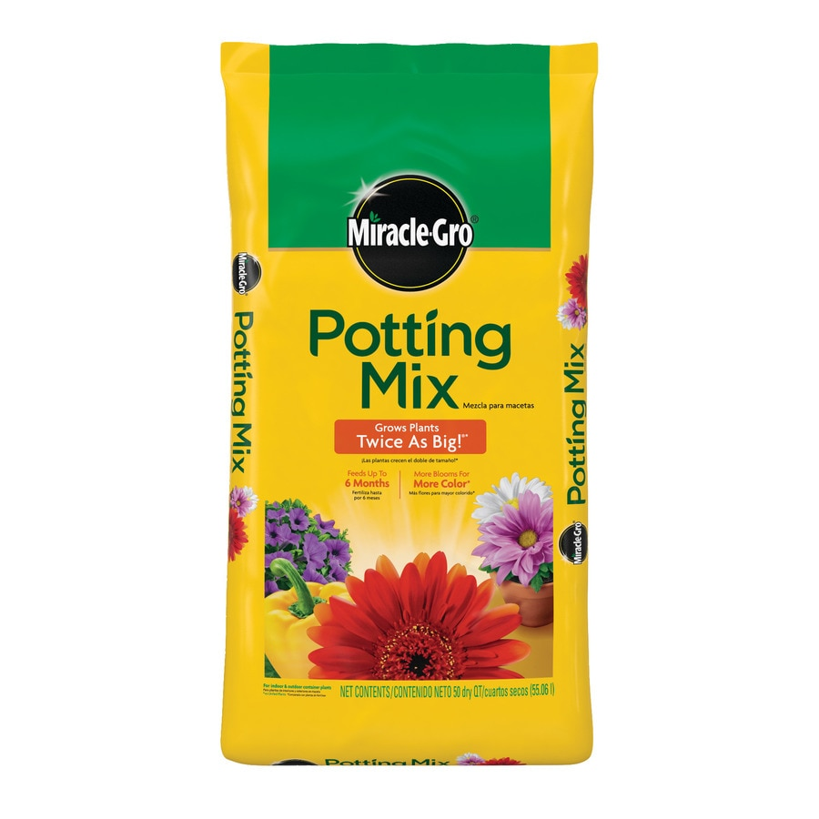 Shop Miracle Gro All Purpose Potting Mix 50 Quart Potting Mix With Fertilizer At