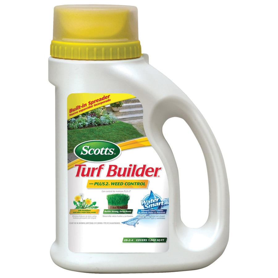 Scotts 1,000-sq ft Turf Builder Plus 2 Weed Control Water Smart Lawn Fertilizer (28-2-4)